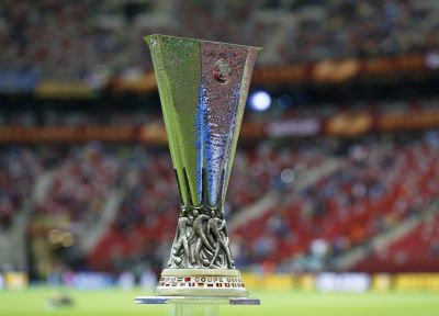 Europa League trophy on display in Saints stores