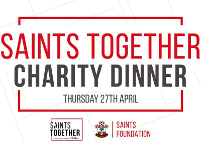 Tickets on sale for Saints Foundation charity dinner