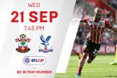 EFL CUP TICKETS: Southampton vs Crystal Palace – 21/09/2016