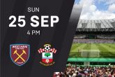 TICKETS: West Ham United vs Southampton – 25/09/2016
