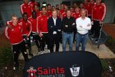 Saints stars visit youngsters at Southampton General Hospital