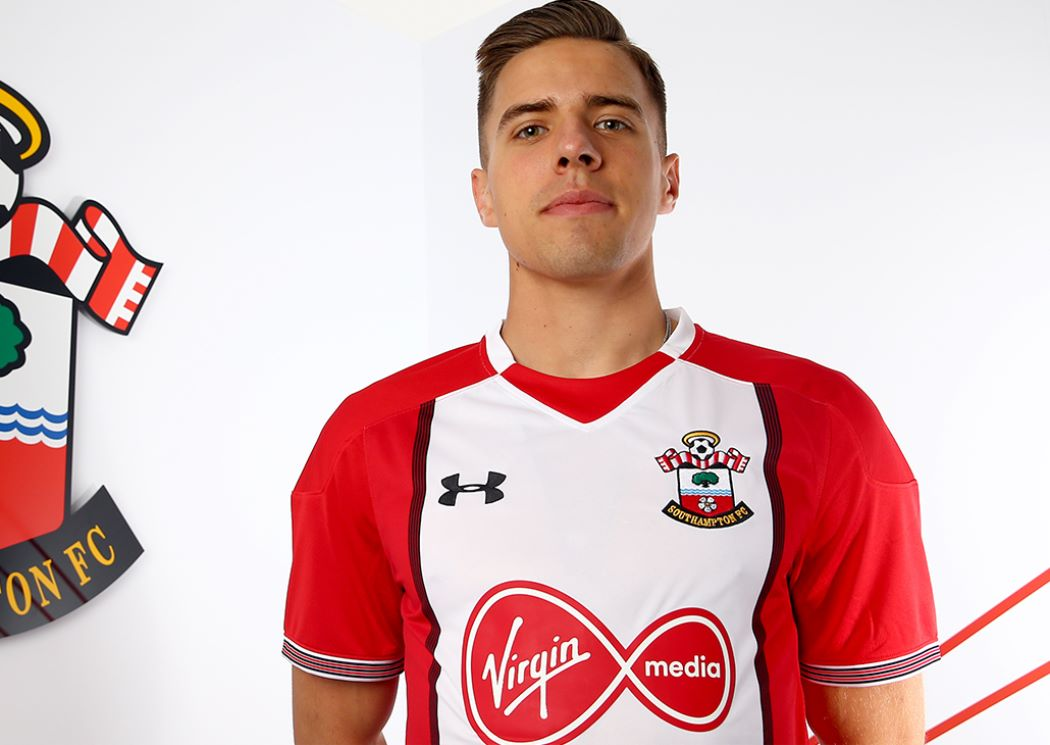 southampton fc first team jan bednarek defender. Black Bedroom Furniture Sets. Home Design Ideas