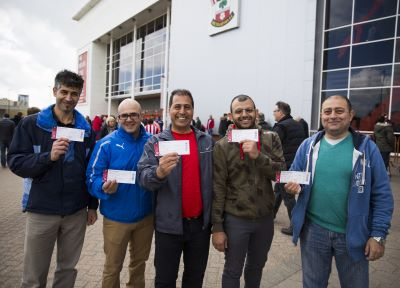 Saints give free tickets to refugees